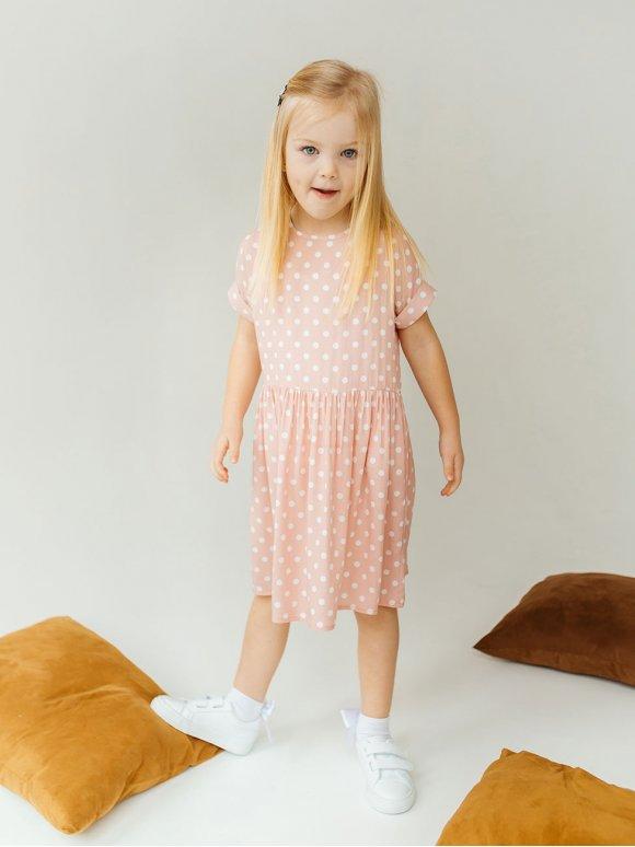 Літня дитяча сукня в горох 10021