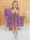 Летнее детское платье в горошек 10021