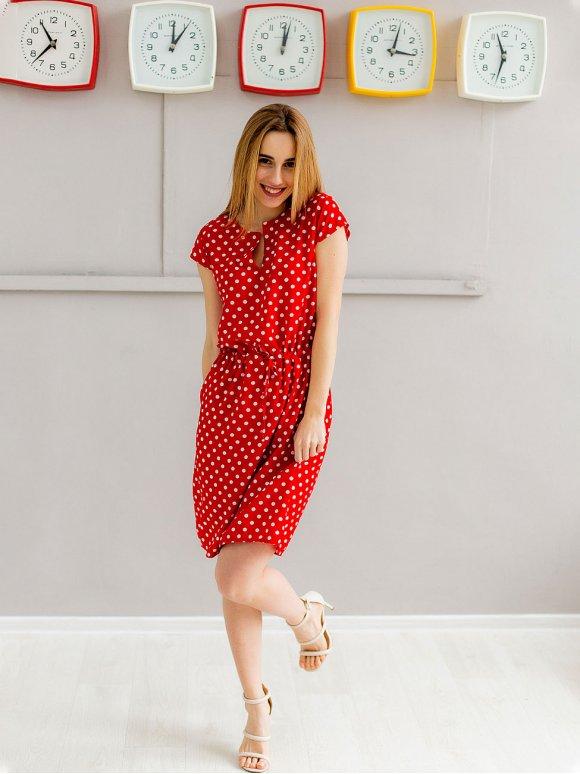 Сукня на кулісці з V-подібним вирізом 2961