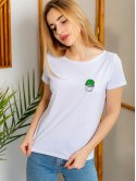 Модная футболка с вышивкой 2981