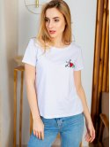 Белая футболка с вышивкой 2980