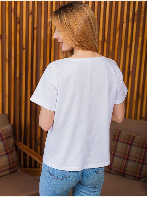 Свободная футболка с принтом 2995