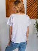 Белая футболка с цветным принтом 2986