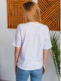 Белая футболка с принтом 2985