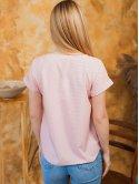 Легкая блуза в горошек с коротким рукавом 3000