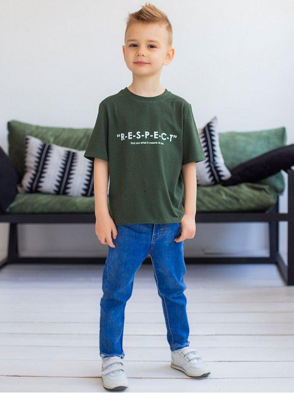 Стильна дитяча футболка з принтом 10022