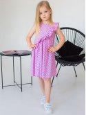 Яркое детское платье с рюшей 10039
