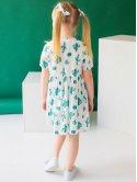 Летнее детское платье с пуговицами 10045