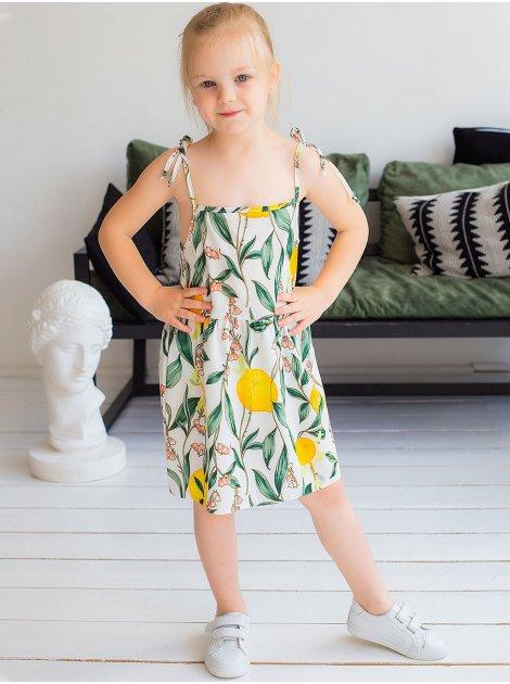 Летний детский сарафан с ярким принтом 10035
