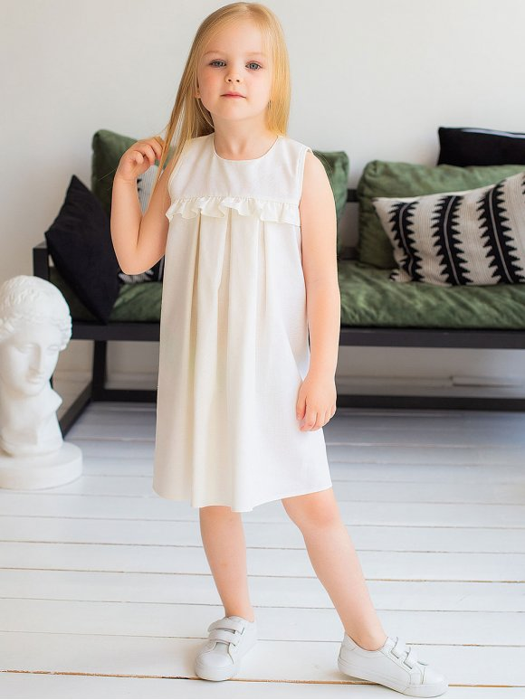 Красива дитяча сукня з рюшею 10042