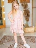Детский сарафан в горошек с рюшами 10041