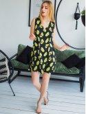 """Красивое летнее платье с принтом """"авокадо"""" 2975"""