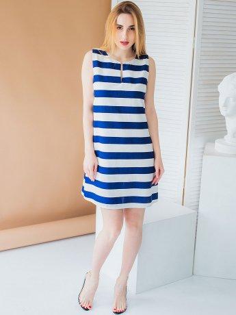 Повседневнее летнее платье в полоску 3011