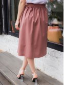 Льняная юбка длины миди 3018