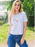 Белая футболка с надписью 3040
