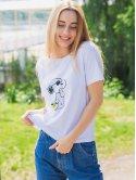 """Белая футболка с принтом """"Снупи"""" 3039"""