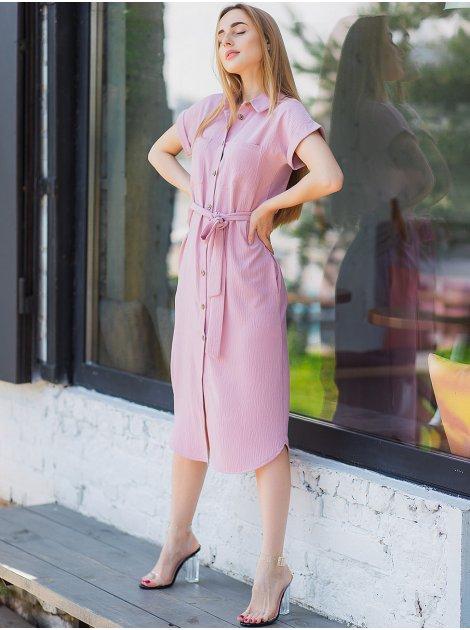 Платье-рубашка с поясом 3019