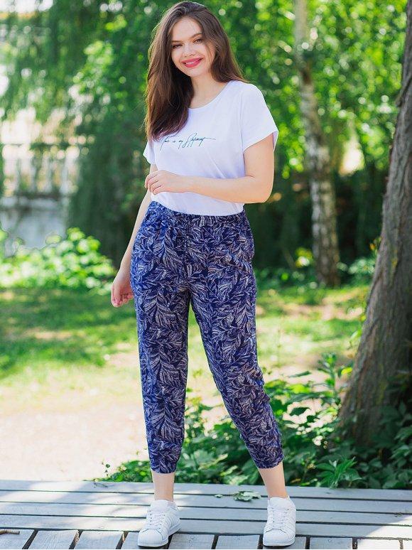 Лёгкие летние штаны size+ 3022