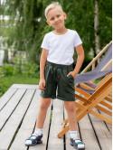 Детские шорты с цветными пуговками и нашивкой 10044