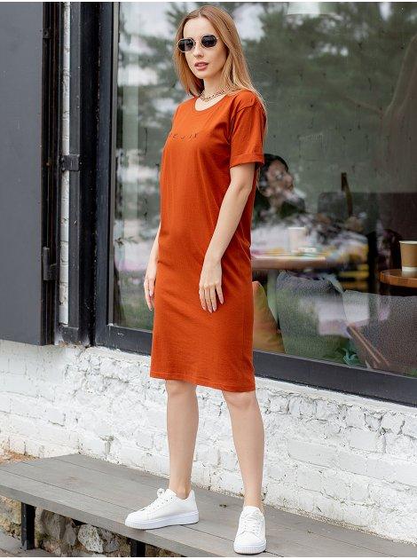 Платье-футболка с принтом 3045
