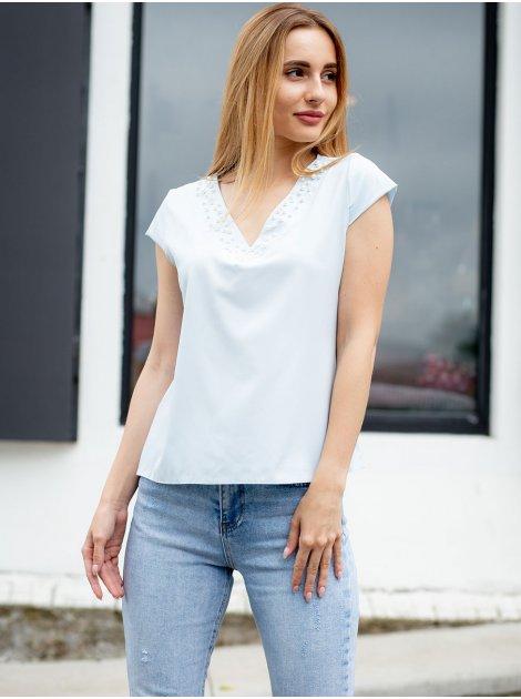Блуза с россыпью жемчуга 3026