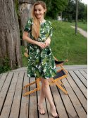 Красивое платье в тропический принт 3048