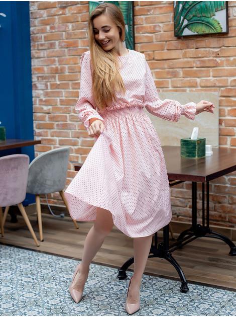 Платье в горошек на широкой резинке 3053