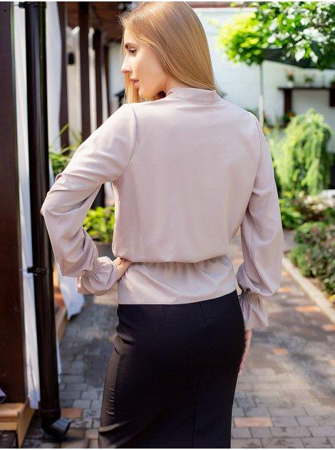 Блуза на широкой резинке с бантом 3050