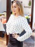 Классическая блуза в горошек 3066