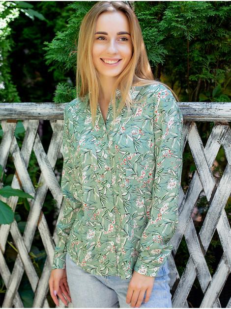 Рубашка в флоральный принт на пуговицах 3052