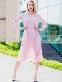 Платье в горошек с пуговицами и рюшей на спинке 3070