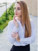 Блуза в горошек на кнопках 3055