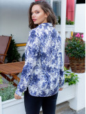 Блуза size+ в цветочный принт 3079