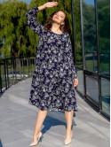 Платье size+ в цветочный принт 3091