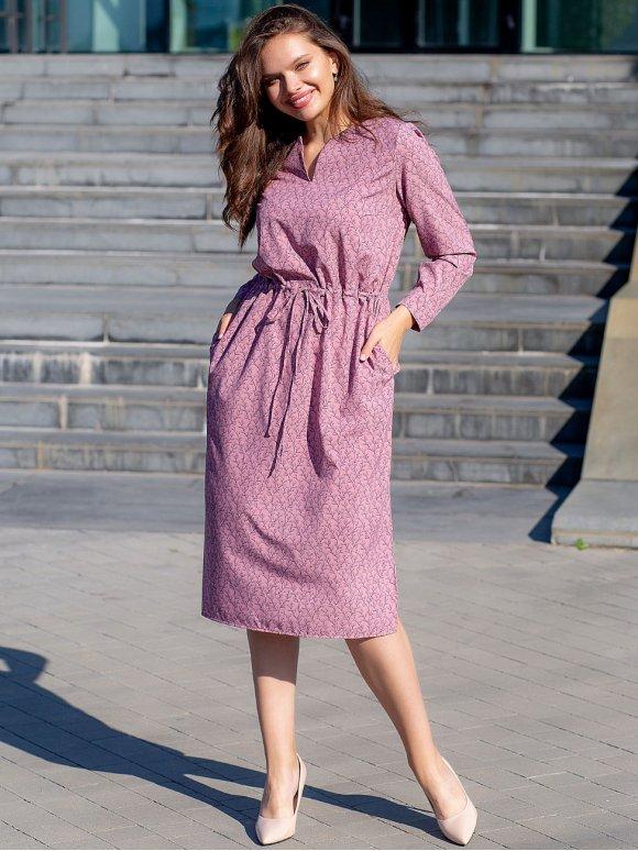 Красивое платье size+ на кулиске 3065