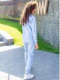 Стильный костюм с белыми лампасами 3078