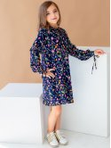Детское платье в цветочный принт 10048