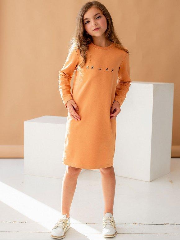 Детское платье с трендовым принтом 10049