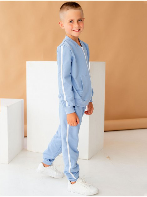 Детский костюм на молнии с белыми лампасами 10057