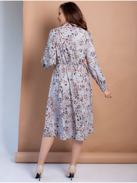 Платье-миди size+ в флоральный принт 3100