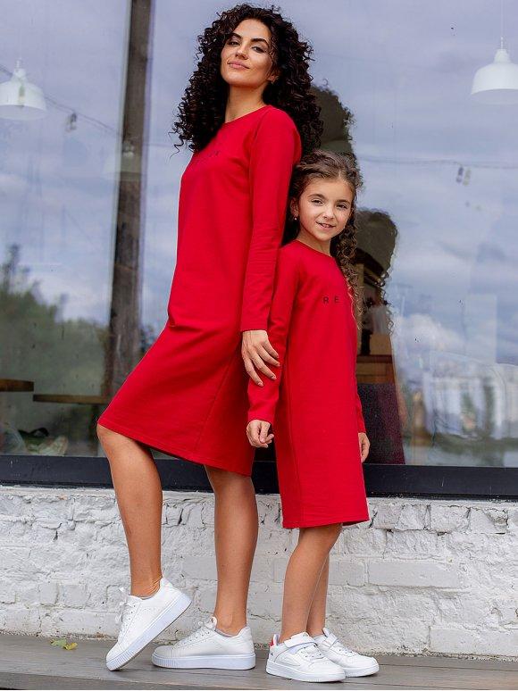 Трикотажное платье с трендовым принтом 3067