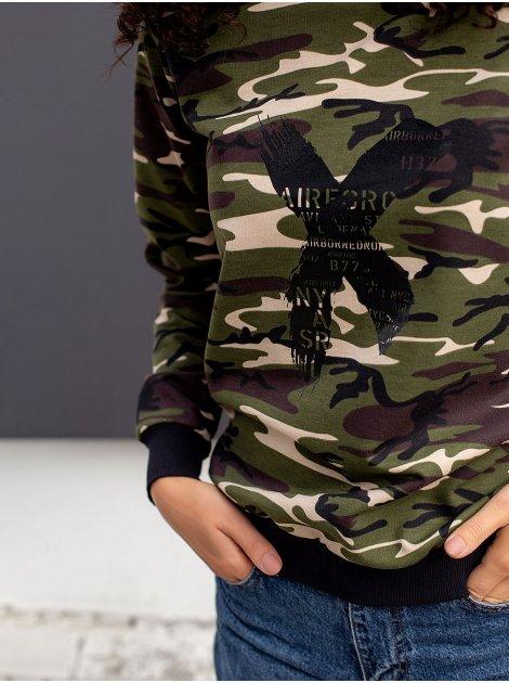 Камуфляжный свитшот с принтом 3093