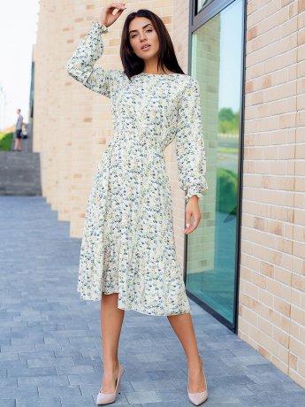 Нежное цветочное платье 3105