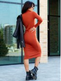 Базовое платье-гольф с начёсом 3126