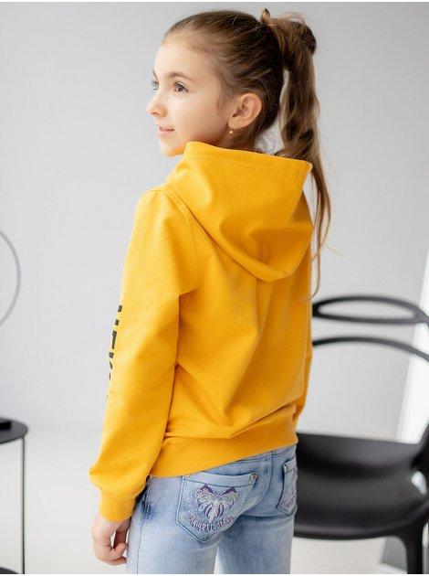 Стильный детский худи с принтом на рукавах 10058