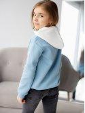 Детский худи с белым капюшоном и принтом 10072