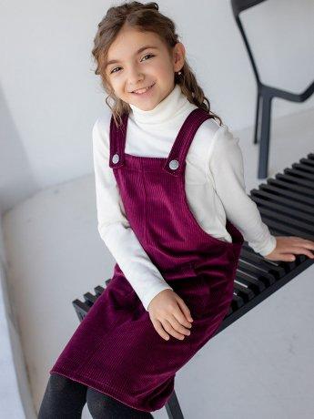 Детский вельветовый сарафан с карманами 10068