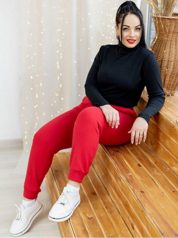 Теплые спортивные штаны size+ 3142