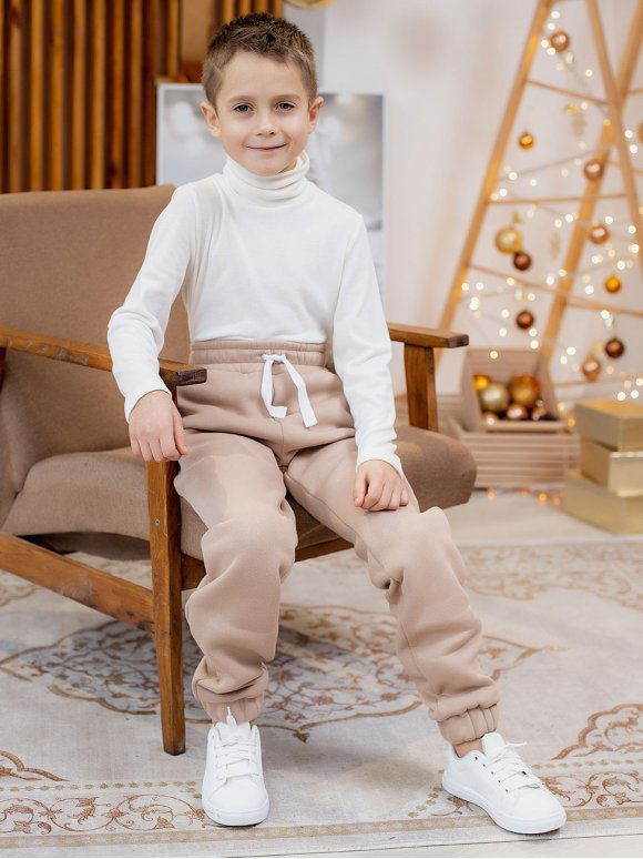 Теплые детские спортивные штаны 10076