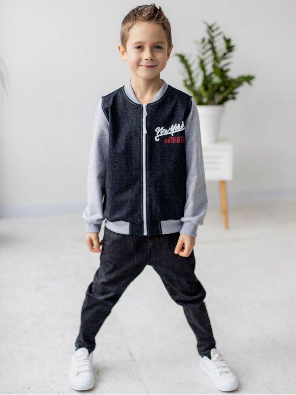 Комбинированный детский бомбер 10080
